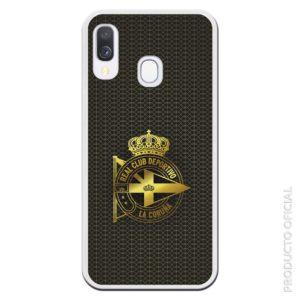 Comprar funda para Iphone Deportivo coruña dorado y fondo negro elegante aficionados