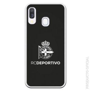 Comprar funda RC Deportivo escudo blanco y fondo negro disponible para más de 500 terminales