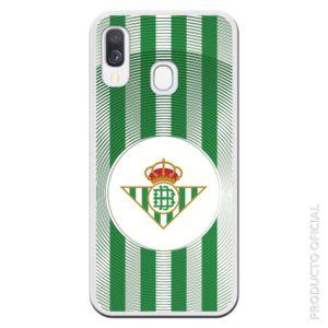 Comprar funda del betis escudo Real Betis con cuadrado Balcno y líneas verde y blanco con círculos verdes alrededor