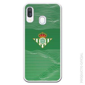 Funda móvl Betis con relieve lineas estilo medición relieve con fondo verde