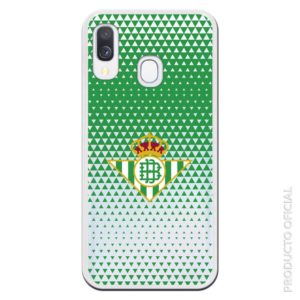 Comprar carcasa móvil Betis con verde triangulos y fondo transparente futbol femenino regalo afición