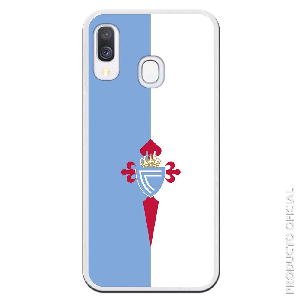 Carcasa móvil Celta con fondo blanco y azul oficial regalo dia del padre