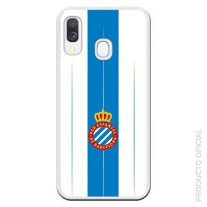 Compra funda móvil Espanyol escudo con fondo azul y fondo blanco