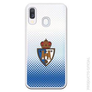Comprar funda ponferradina sdp escudo fondo azul cuadrados y fondo blanco aficionados