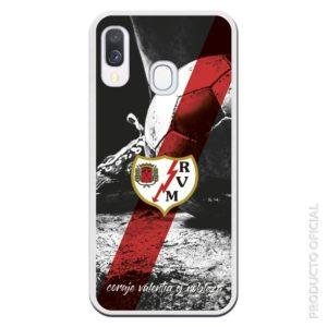 Comprar funda del rayo vallecano para los rayistas escudo rayo vallecano y línea emblema del equipo con el lema coraje , valentía y nobleza