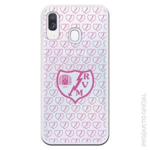 Comprar funda móvil rayo vallecano rosa con mini escudo rosas futbol femenino rayo vallecano regalo original afición