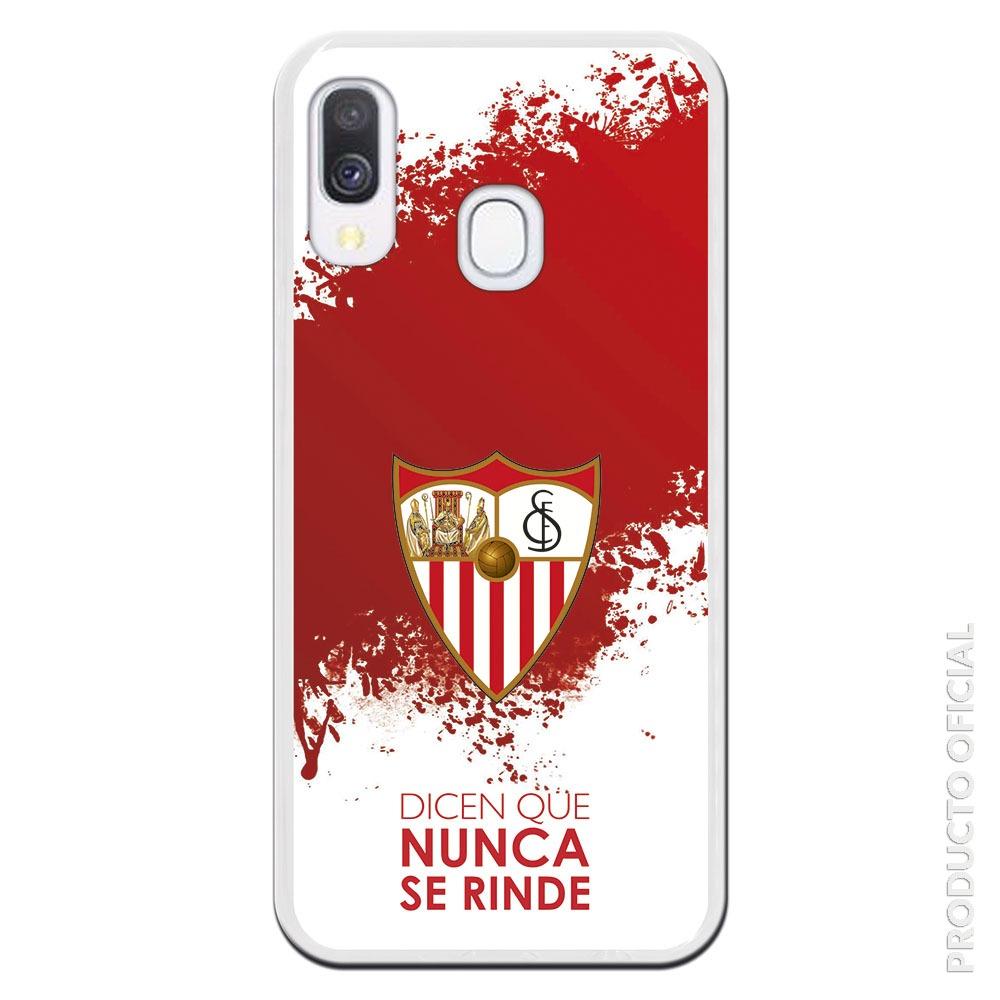 Compra funda Sevilla futbol cluby dicen que nunca se rinde fondo blanco y rojo efecto pintura
