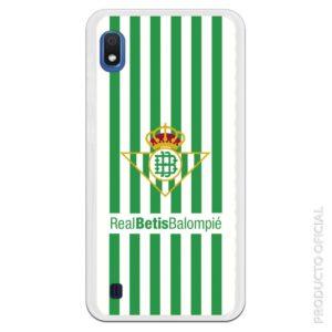 Funda móvil Real Betis escudo y líneas blanco y verde