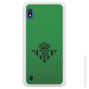 Funda móvil Real Betis escudo negro puntos cuadrados betis fondo verde