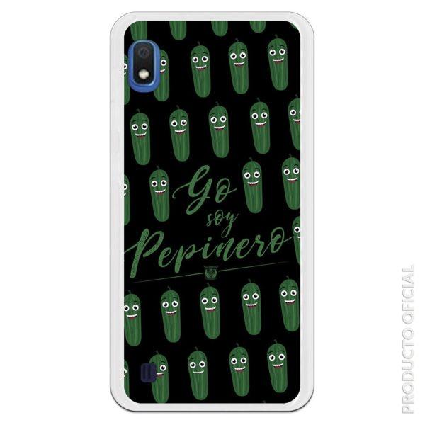 Funda móvil pepinero verde y fondo negro Yo soy pepinero del Leganés