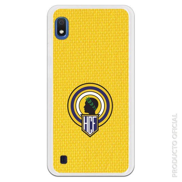 Funda móvil Hércules club de futbol escudo con fondo amarillo