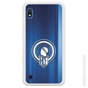 Funda móvil Hércules club de fútbol fondo azul y escudo blanco