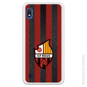 Funda móvil CF Reus Oficial escudo con fondo colores reus textura camiseta
