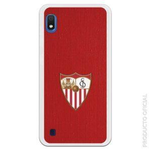 Funda móvil Sevilla escudo con fondo pared roja