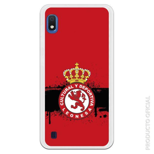 Funda móvil Cultural y deportiva leonesa escudo y fondo rojo pintura brochazo negro