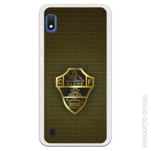 Funda escudo del elche dorado con fondo ramado negro y dorado elegante diseño elche
