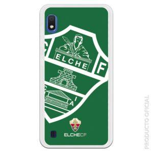Carcasa móvil gel flexible escudo valencia verde con protección en los cuatro lados