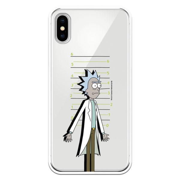 Carcasa móvil Rick and Morty. Ricky fichado por la policía Galactica