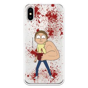 Carcasa móvil Rick and Morty Oficial. Morty con el brazo superfuerte y asesino