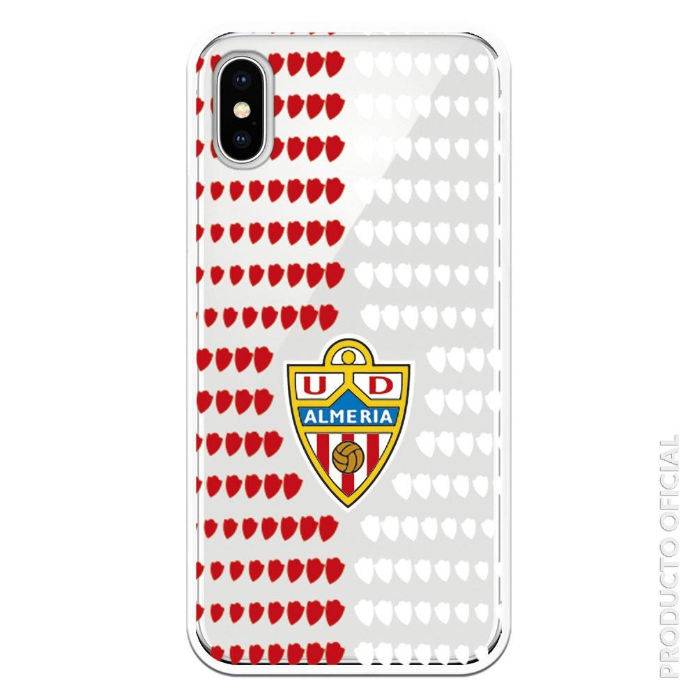 Comprar funda u.d Almería escudos almerias roja y blanco con fondo tranparente