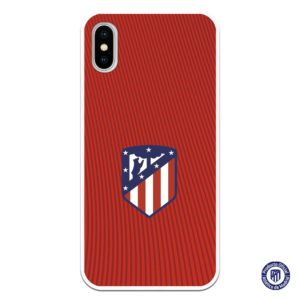 Funda móvil atlético de madrid escudo con fondo rojo y líneas rojizas comprar aficionados campeones de liga