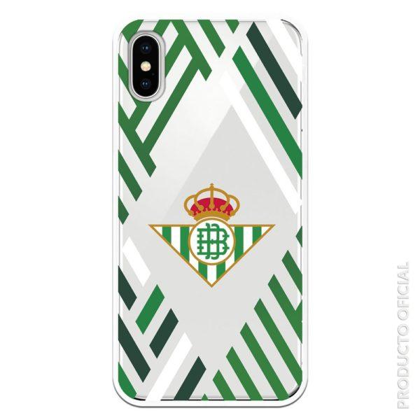 Carcasa móvil real betis escudo y verde , verde oscuro y blanco con fondo transaprente betis partido hoy