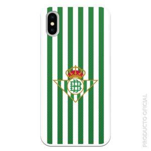 Funda móvil escudo real betis fondo verde y blanco real betis gel silicona flexible partido hoy chiringuito