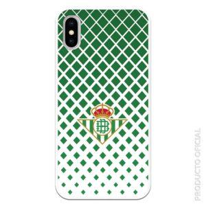 Funda móvil para Huawei p20 lite real betis escudo con fondo transparente cuadrados verdes