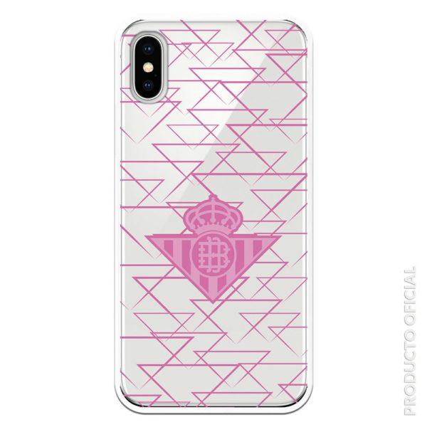 Comprar carcasa real betis rosa escudo rosa triangulo con fondo transparente gel silicona transparente regalate a ti cosas futbol femenino rosas