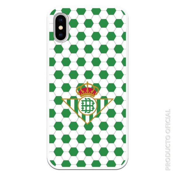 Carcasa móvil reaal betis con fondo dibujo pelota de futbol verde y blanco partido hoy