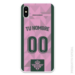 Comprar funda móvil tercera equipación rosa y verde oscura personalizada temporada 19-20