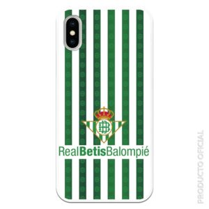 Funda móvil escudo real betis verde y blanco con fondo blanco partido hoy real betis