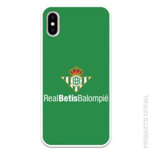 Funda móvil real betis balompie con fondo verde silicona gel flexible aficionados betis gol tv