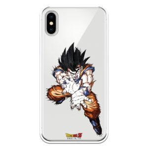 Funda móvil con Goku preparado para lanzar un kame ame desde el cielo Bola del Dragón fundas oficiales