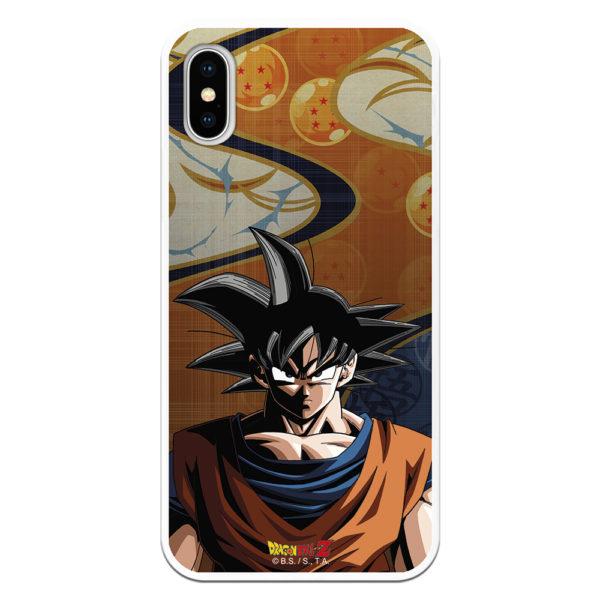 Carcasa móvil para iphone Goku y fondo bolas del dragón