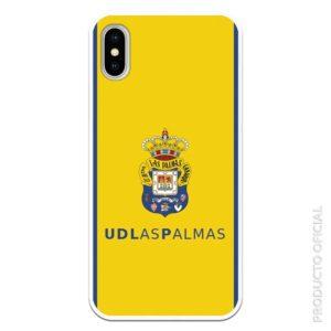 Comprar funda para Iphone 12 ud las palmas escudo las palmas con fondo amarillo y azul a los lados