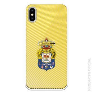compra funda las palmas de gran canaria oficial para tu móvil con fondo transparente y fondo con líneas amarillas