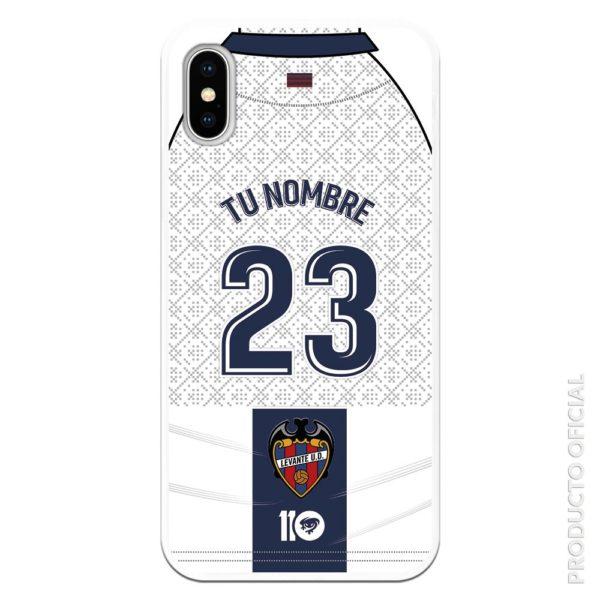 Compra funda personalizada nombre y dorsal azul segunda equipación temporada 19-20 camiseta blanca y azul
