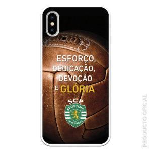 Funda móvil Sporting de Portugal Oficial Esforço Dediaçao Devoçao e Glória