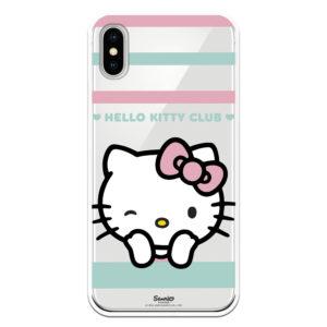 Funda móvil Hello Kitty club bonita guiño Rosa y azul