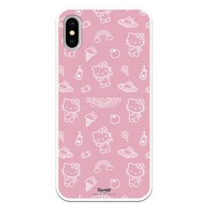 Funda móvil funda fondo rosa icono blanco trazado