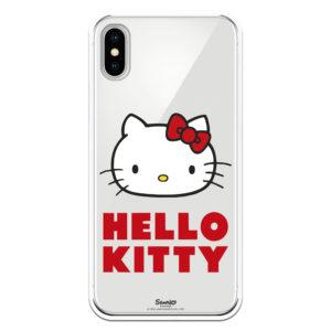 Funda móvil para iphone Hello Kitty Cara y letras color rojo