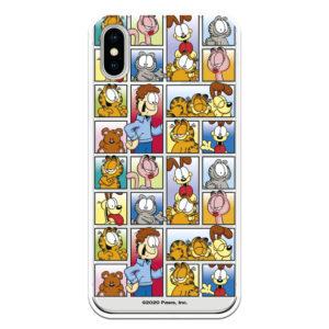 Funda Garfield Comic viñetas fondo transparente.