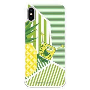 Funda Bob Esponja Piña color amarillo lima