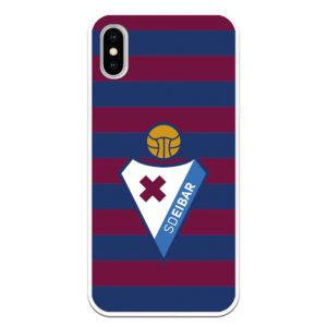Funda oficial del SD Eibar conel escudo en el centro y colores azul granate del club