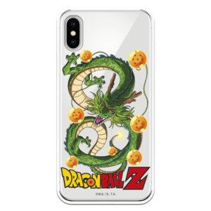 Funda móvil Dragón Sheron de Bola dragón Z con fondo transparente con las bolas alrededor Serie bandai