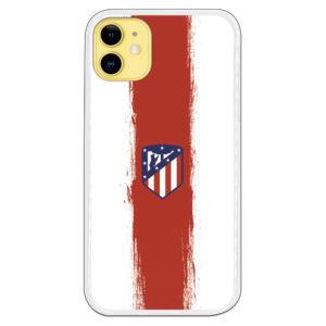 Carcasa móvil escudo oficial atlético de madrid rayas blanco y rojas