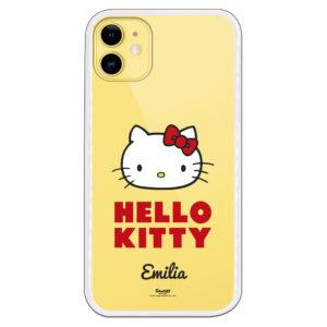 Funda Hello Kitty personalizable el nombre con tipografía oficial