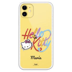 Funda móvil Hello kitty nombre personalizado maría