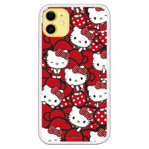 Funda móvil hello kitty con corazones rojos kitty tiene diferentes caras